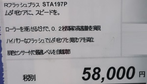 脱毛器光美顔器レイボーテRフラッシュPLUSは58,000円