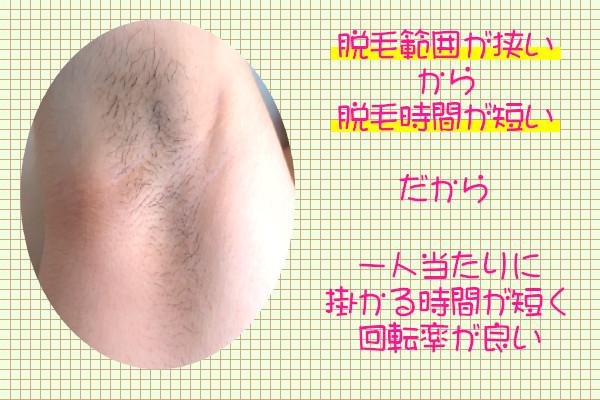 脇脱毛は範囲が狭いから安く脱毛できることがある