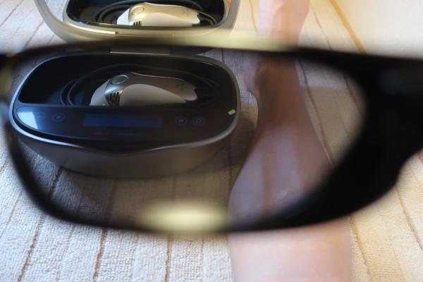 ケノンで照射する前にサングラスで目を保護する・・必要ある?