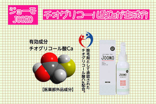 ジョーモ(JOOMO)の主成分はチオグリコール酸カルシウム
